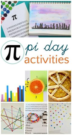 Pi day activities for kids at home or in the classroom. Pie Day Activities, Kindergarten Activities, Teaching Math, Kids Learning Activities, Maths Resources, Math Worksheets, Educational Activities, Preschool Crafts, Kid Crafts