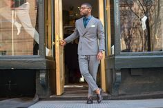 mnswrmagazine:  ON MNSWR.COM:Style by Mr Brandon Bryant  Mr Brandon Bryant is a blogger at Wall Street Paper where shares his muses about 'Wall Street Fashion,' featuring outfits with vintage and modern finance influences with a subtle urban twist.  Photography – Mr. Nick Urteaga Suit – Cesar Renuan  |  Shirt - Suit…