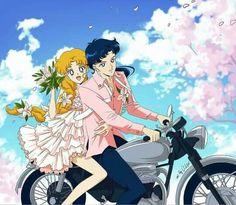 Usagi&Seiya-lets take a ride