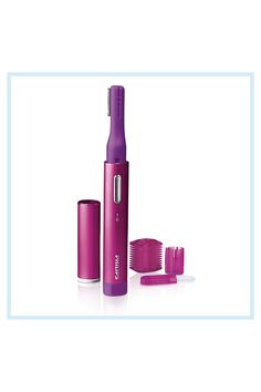Philips Precision Perfect Trimmer In Pink - Quickly and easily remove unwanted facial hair with the Philips Precision Perfect Trimmer. Features 2 trimming length options so it can be used to trim and shape eyebrows, as well as lip, chin or brow hair. Includes a cleaning brush. #BackHairRemoval Underarm Hair Removal, Chin Hair Removal, Electrolysis Hair Removal, Hair Removal Spray, At Home Hair Removal, Hair Removal Machine, Permanent Facial Hair Removal, Remove Unwanted Facial Hair, Unwanted Hair
