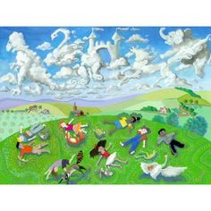 Oopsy Daisy - Cloud Dreaming Canvas Wall Art 24x18, Nancy Snow