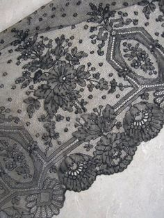 Chantilly Lace Embroidery, Chantilly Lace, Lace Making, Bobbin Lace, Vintage Lace, Lace Trim, Envy, Lace Dress, Auction