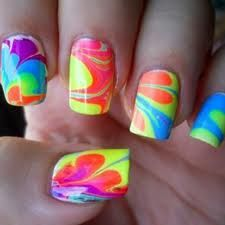 Love is Life: Neon Nails, Marble Nails Art