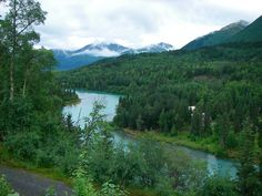 Kenai River. This picture doesn't do justice to the color of the water. It's amazing in person.