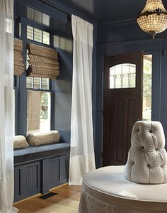 Wall color / Painted Trim - Lisa Sherry Interieurs | Interior Design Saturated color
