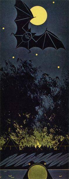 Charley Harper: Bat, Bullfrog, and Bonfire