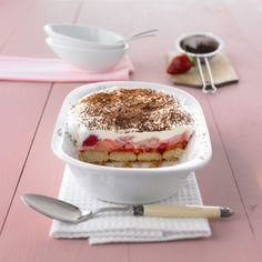 Aardbei-rabarber-tiramisu Recept | Weight Watchers België