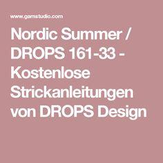 Nordic Summer / DROPS 161-33 - Kostenlose Strickanleitungen von DROPS Design