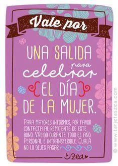 Vale por una salida para celebrar el día de la mujer © ZEA www.tarjetaszea.com