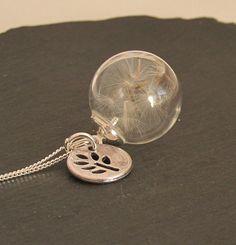 Glasketten - Pusteblume Anhänger an 925 Silber Kette - ein Designerstück von Mirakel1807 bei DaWanda