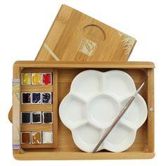 Aquarela Lefranc & Bourgeois 12 Cores Coffret Natura Box