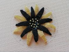 hand embroidery:how to stitch a flower with beads. - YouTube