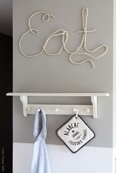 How to Make Rope Letters for fun DIY home decor! Tutorial at LoveGrowsWild.com #rope #diy #decor