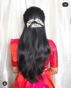 Bridal Hairstyle Indian Wedding, Bridal Hair Buns, Bridal Hairdo, Indian Bridal Hairstyles, Saree Hairstyles, Braided Hairstyles Updo, Bride Hairstyles, Open Hairstyles, Everyday Hairstyles