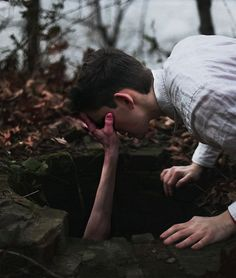 """""""Dude, hand me the flashlight."""" He reached up and planted a hand on Mile's face. """"That's not a flashlight, Ben."""""""