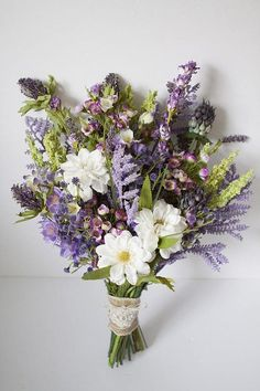 rustic bouquet wedding flowers - Page 95 of 101 - Wedding Flowers & Bouquet Ideas Lavender Bouquet, Purple Wedding Bouquets, Silk Flower Bouquets, Wedding Flower Arrangements, Silk Flowers, Floral Wedding, Floral Arrangements, Wedding Rustic, Wedding Dresses