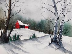 ACEO Limited Edition PRINT - Landscape Print by Watercolor artist Jim Lagasse #Realism