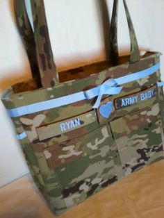 OCP Multicam camo diaper bag handmade custom travel bag shower gift for her baby gift for him by bythebayoriginals on Etsy