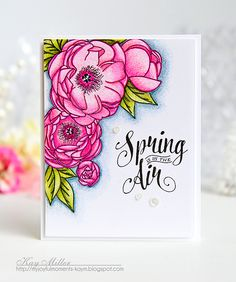 Spring Is In The Air Card by Kay Miller for Papertrey Ink (February 2016)