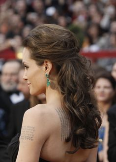 angelina jolie emerald earrings - Google Search