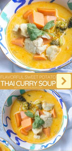 A comforting fall recipe for dinner! Sweet Potato Thai Curry Soup is easy to prepare using fresh ingredients and is both delicious and friendly on your wallet. Save this 5-ingredient recipe for later!