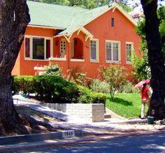 Orange Houses Exterior House Colors Orange House