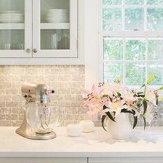 Bardiglio Marble Backsplash, Transitional, Kitchen, Sophie Metz Design