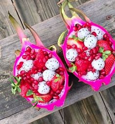 This Tropical Fruit Salad looks sooo TASTY! Who Else agrees? #LoveSurf #tropical #dragonfruit #inspo #healthy
