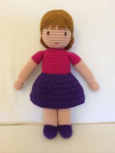 Amigurumi crochet doll made by Andréa Corrêa