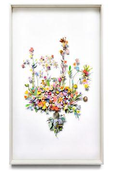 Flower construction #30 (w:70 h:120 d:6.5 cm)
