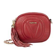 Valentino by Mario Valentino Nina Leather Crossbody Bag - Violet - Siz Monogram Shop, Leather Crossbody Bag, Saddle Bags, Shop Now, Mario, Valentino Handbags, How To Wear, Shopping, Marsala