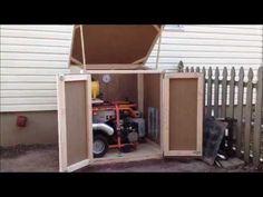 Outdoor enclosure for portable generator