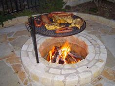 New Ideas backyard fire pit bbq ideas Diy Fire Pit, Fire Pit Backyard, Backyard Patio, Backyard Landscaping, Fire Pits, Backyard Seating, Fire Pit With Grill, Backyard Fireplace, Propane Fireplace