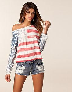 Today's Trending Products on Wanelo, the world's biggest shopping mall. 4th Of July Outfits, Summer Outfits, Cute Outfits, All American Girl, American Flag, American Gypsy, Love Fashion, Womens Fashion, Shoulder Shirts