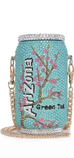 Fashionable and Bling Arizona Tea Clutch - Bridal / Bridesmaid / Wedding Clutch / Evening bag - wedding prom festival fashion party Unique Handbags, Unique Purses, Unique Bags, Cute Purses, Purses And Handbags, Clutch Handbags, Green Tea Bags, Novelty Bags, Wedding Clutch