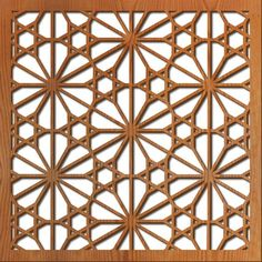 Laser cut patterns for custom laser-cut panels. These patterns can be customized for wall partitions, wall art, backlit screens, room dividers, and other products.