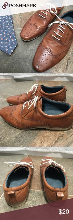 👞 Camel Brown Oxfords Call It Sprin camel colored lace up Oxford shoes. Look dapper with these beautifully detailed, gently used shoes. Make me an offer! 👞👞 Call It Spring Shoes Oxfords & Derbys