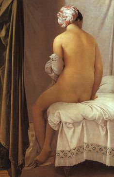 "Jean Auguste Dominique Ingres · ""The Valpinçon Bather"" (1808)"