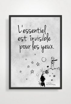 ♥Le petit prince 2 Quote♥ 13€. ♥Ref. #PT0062 - Art-Lovers Art-Lovers