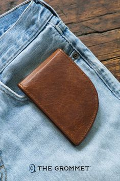 The Front Pocket Wallets are made in Maine from leather, like cow, bison, or even moose, and can comfortably carry cards and cash. And there's added RFID protection, too. It's safer—and can be healthier—to carry your wallet in a front pocket, and these ones are the perfect fit. Snag one for every man on your holiday list! Leather Front Pocket Wallet, Leather Wallet Pattern, Leather Crafts, Leather Projects, Diy Wallet, Great Gifts For Dad, Holiday List, Mens Boots Fashion, Dyi Crafts
