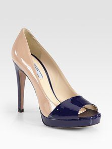 A shoe I need - thx Prada for these gorgeous nude and navy beauties