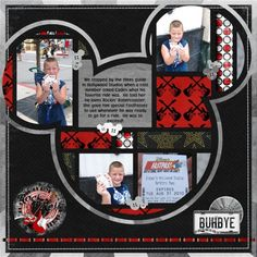 cute template Disney layout with multiple pictures