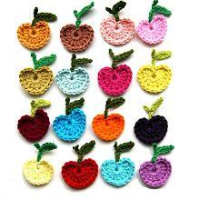 DIY crochet apples