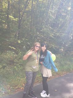 Page and Naru enjoying the Crop Hunger Walk