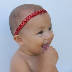 This Contemporary Red Halo Baby Headband is wide. All of my headbands are handmade; Halo 2, Newborn Headbands, Baby Girl Headbands, Red Headband, Backdrops For Parties, Party Shop, Onesies, Infant, Christmas Headbands