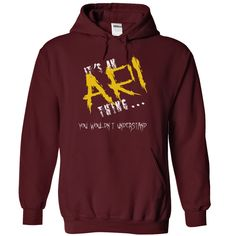 (Tshirt Nice Design) Its an Ari thing you wouldnt understand Discount 20% Hoodies Tees Shirts