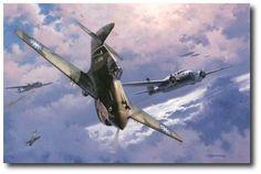 AVIATION ART HANGAR - The Legend Begins by Roy Grinnell (P-40 Warhawk)