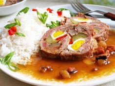 Beskydský závitek s rýži No Salt Recipes, Pork Recipes, Cooking Recipes, Czech Recipes, Ethnic Recipes, Slovakian Food, Pork Meat, Pork Tenderloin Recipes, Food 52