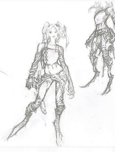 Marc Silvestri sketch for Cyberforce