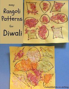 Easy Rangoli Patterns - Clare's Little Tots - Aktuelle Bilder Diwali Eyfs, Diwali Diy, Diwali Rangoli, Diwali Activities, Preschool Art Activities, Multicultural Activities, Toddler Activities, Easy Rangoli Patterns, Easy Patterns
